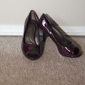 Burgandy high heels